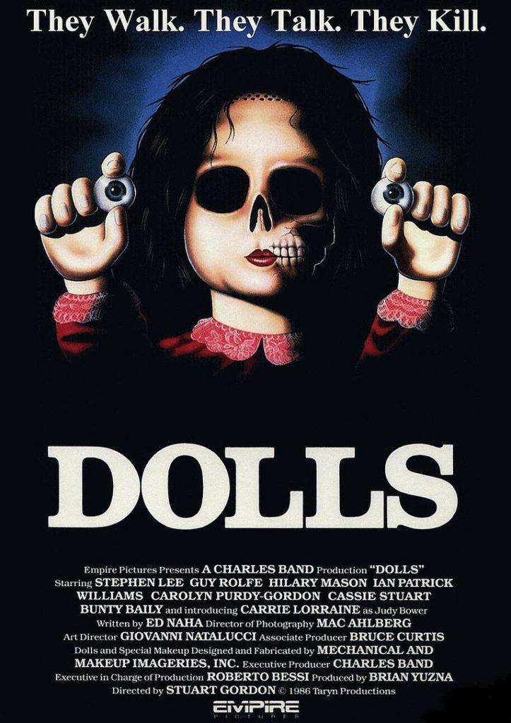 Dolls di Stuart Gordon la locandina statunitense