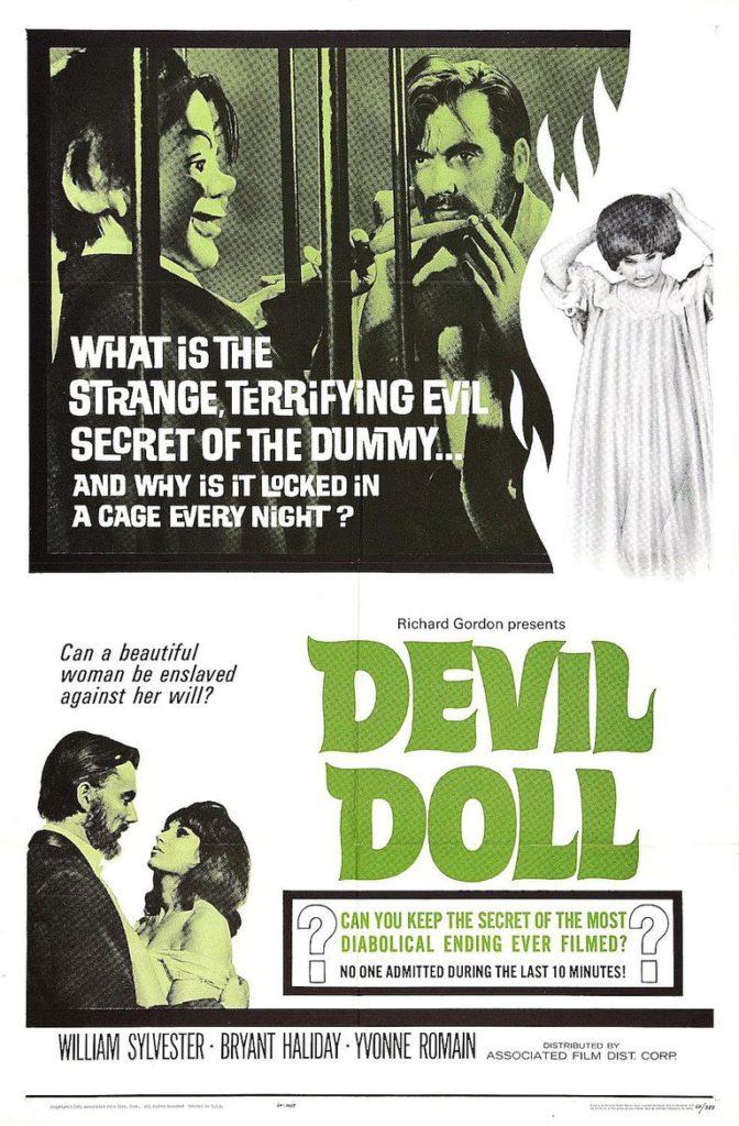Il mostro e le vergini - devil doll - la locandina degli Stati Uniti