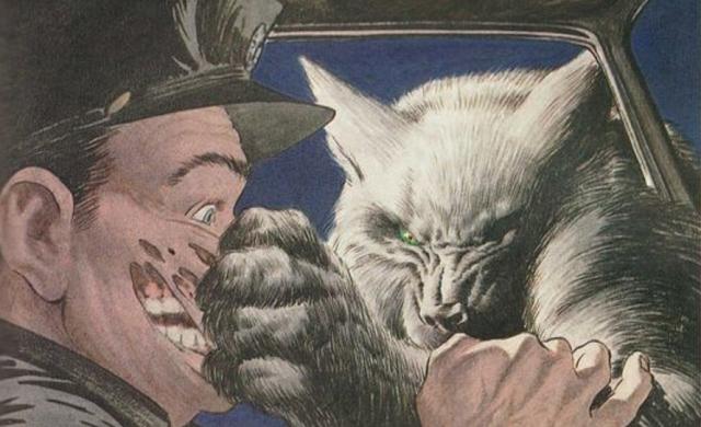 Unico Indizio la Luna Piena una illustrazione di Bernie Wrightson per il libro di Stephen King