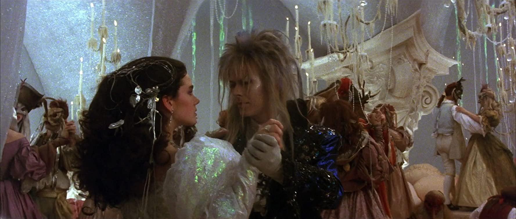 Jennifer Connelly e David Bowie nel film Labyrinth