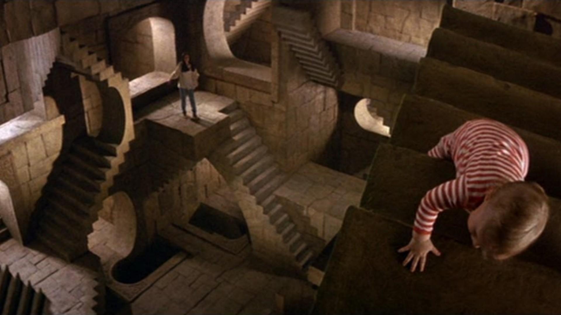Un momento di Labyrinth - Dove è Tutto possibile ispirato alle incisioni di Maurits Cornelis Escher