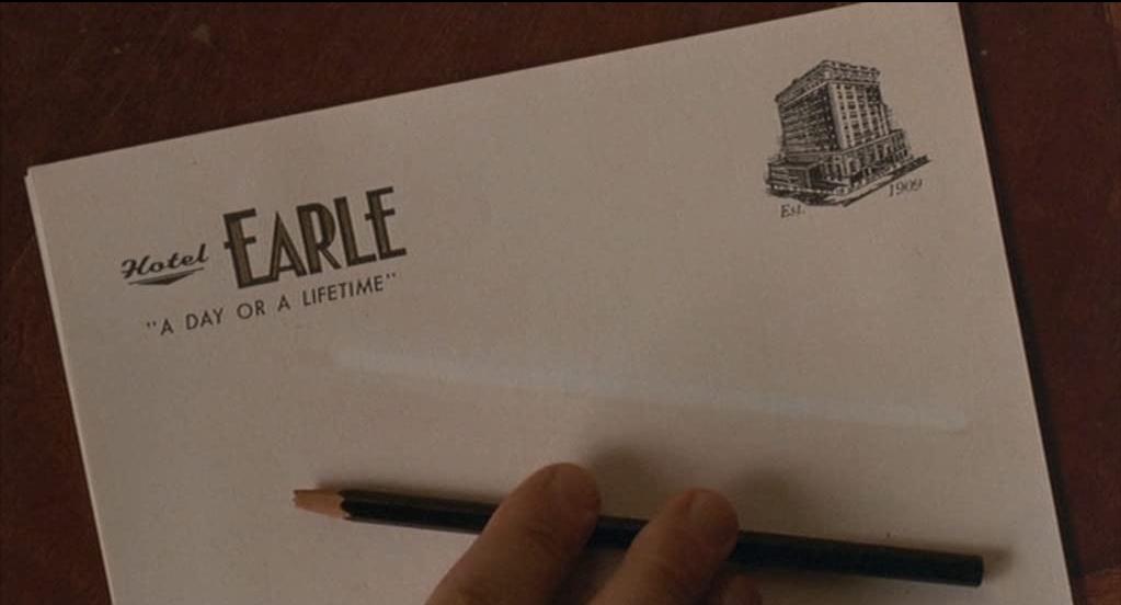 Barton Fink la carta intestata dell'Earle Hotel